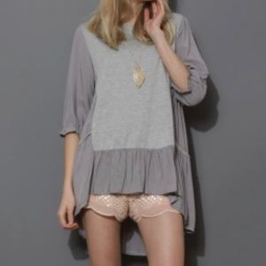 NWT ChicWish Cozy My Fave Dolly Hi-Lo Top